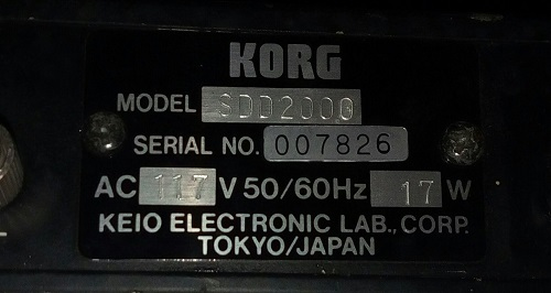 Digital delay Korg SDD 3000 rack