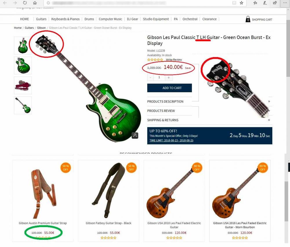 Gibson a prezzi stracciati. Forse un pò troppo??