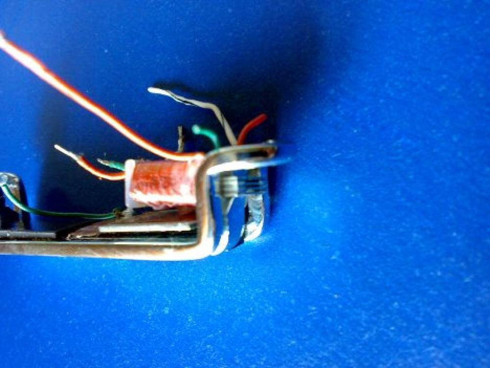 Foto lamelle su alumitone single coil