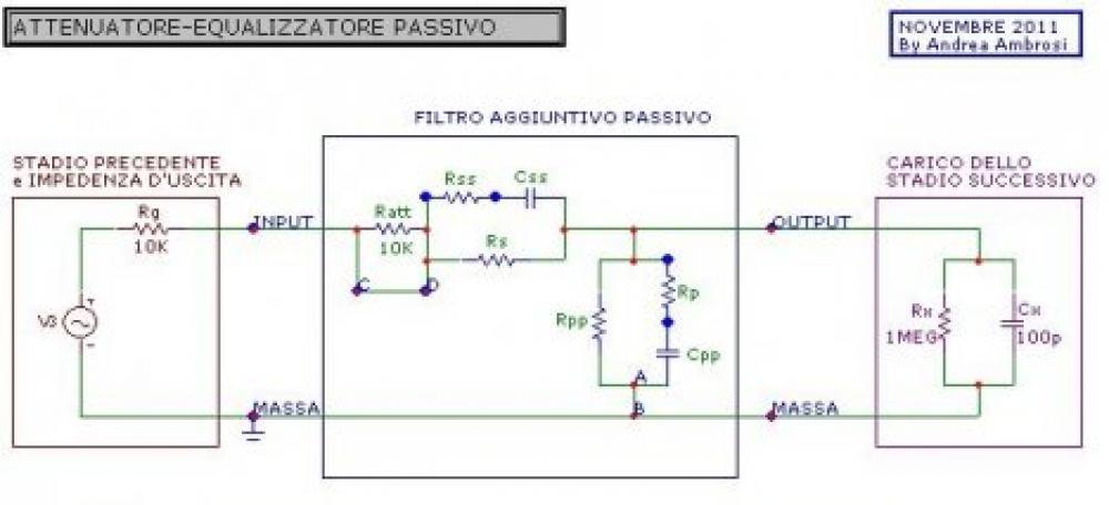 Schema Elettrico Filtro Per Subwoofer : Accordo filtro equalizzatore attenuatore passivo schema