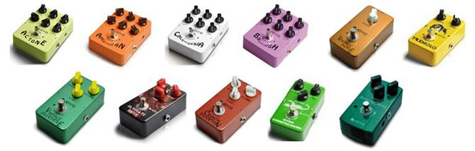 Joyo Pedals: nice and colored!