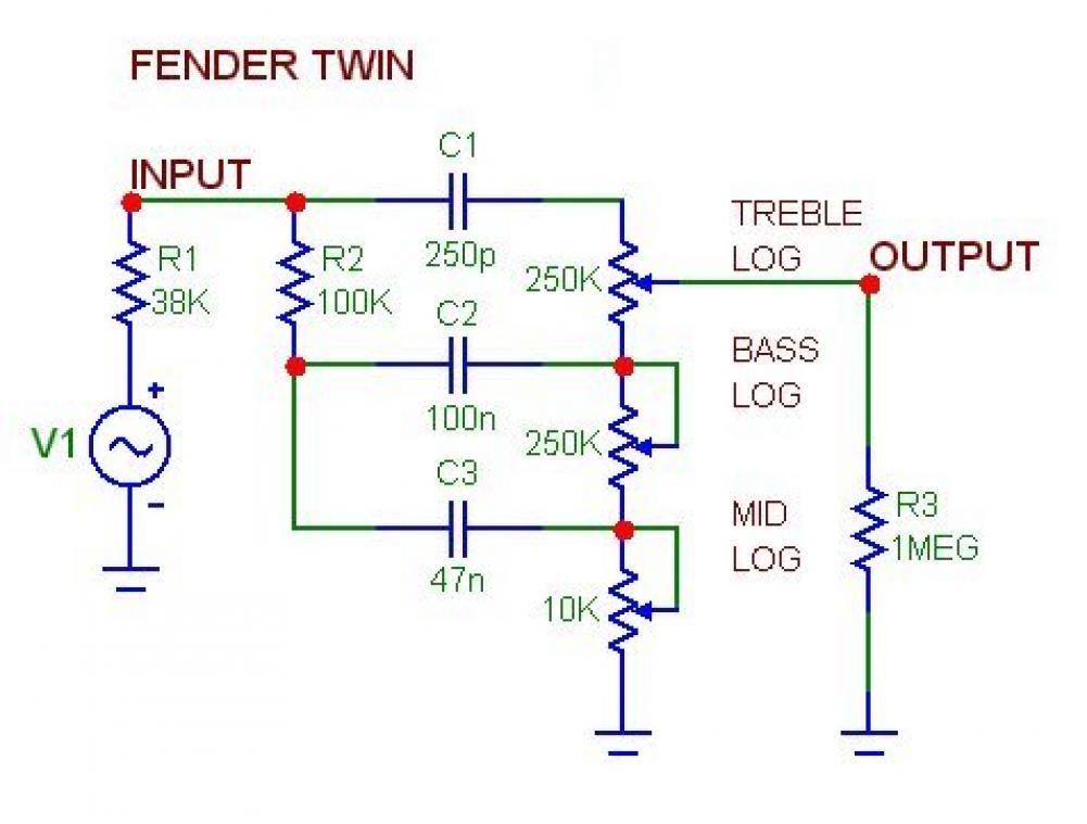 Schemi Elettrici Effetti Per Chitarra : Accordo controlli di tono sugli amplificatori