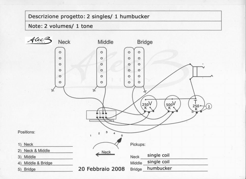 Schema Collegamento Humbucker : Schema collegamento humbucker di marzio fare una mosca