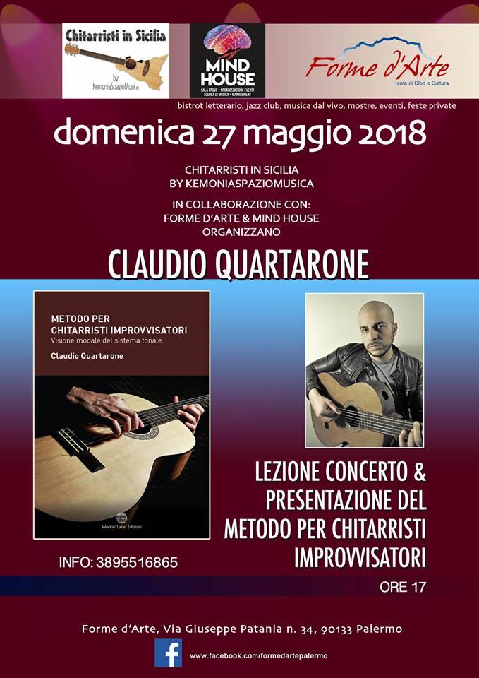 Claudio Quartarone - Lezione/Concerto e presentazione del Metodo per Chitarristi Improvvisatori