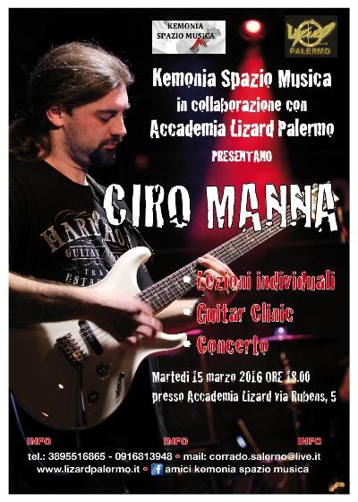 ciro manna - lezioni/clinic/concerto (kemonia & accademia lizard palermo)