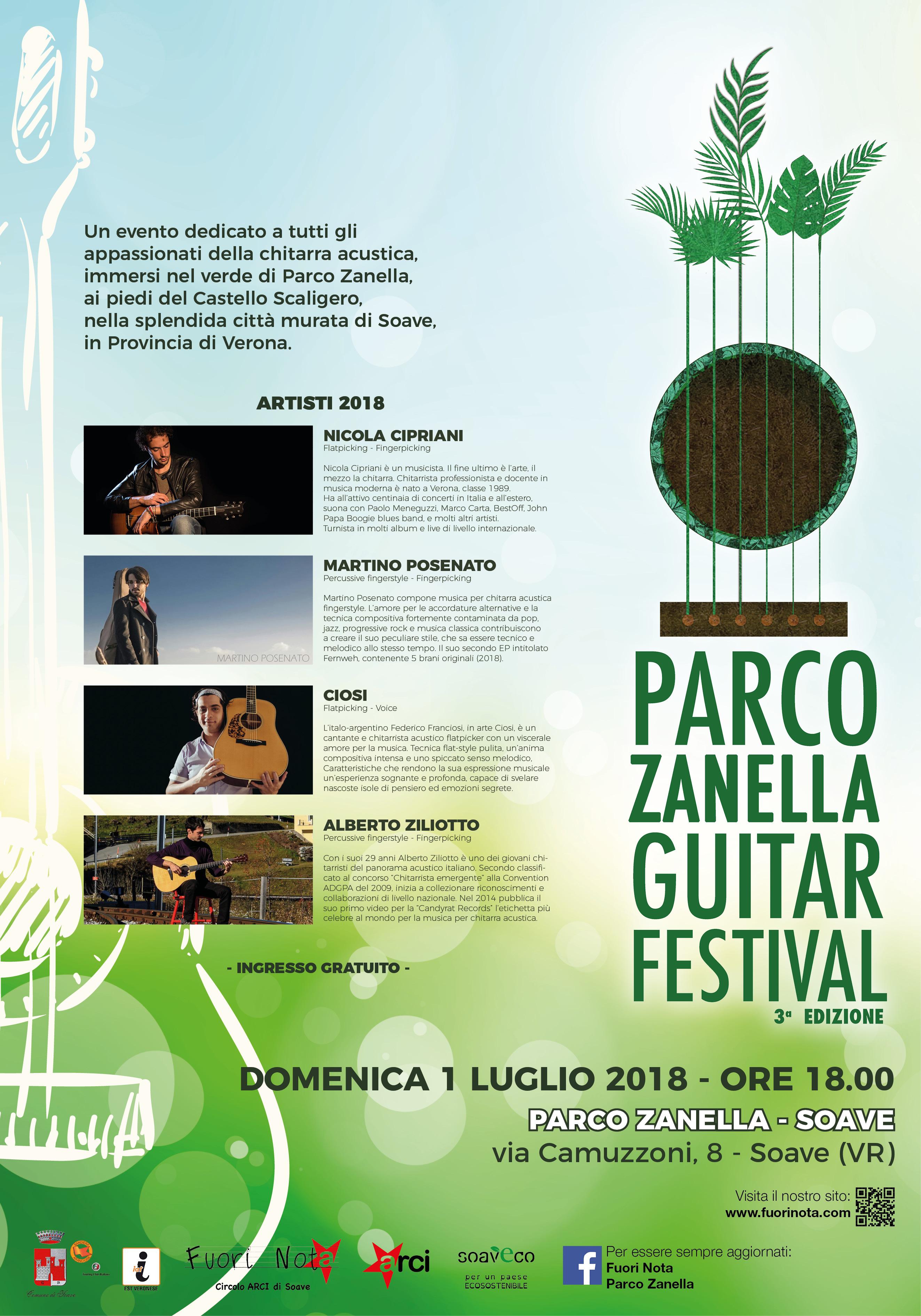 Parco Zanella Guitar Festival 2018 - terza edizione