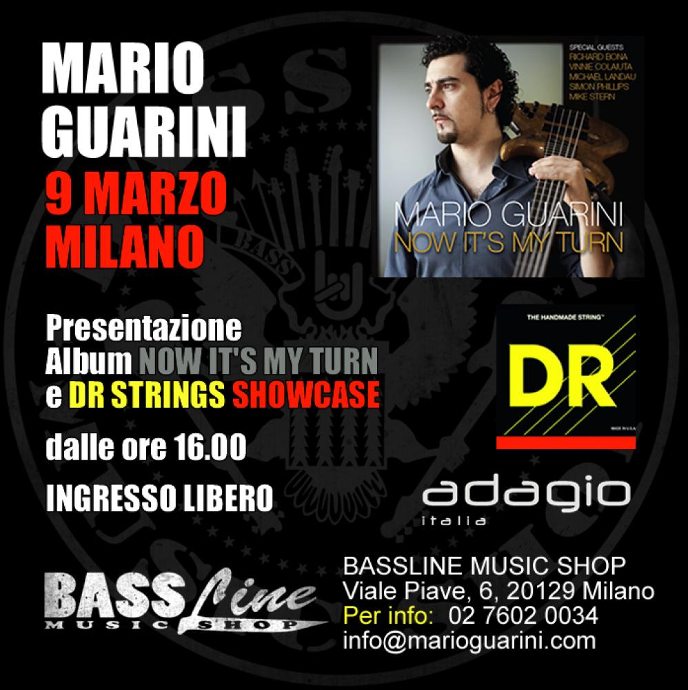 Mario Guarini: workshop di basso e show case DR Strings