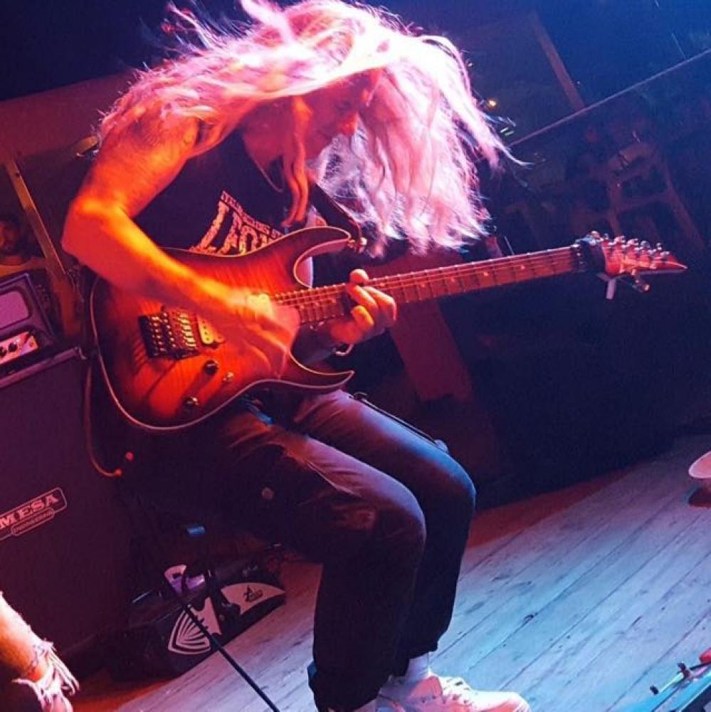 Brian Maillard a Bologna, sul palco dell'Ibanez RG 30th Anniversary Tour
