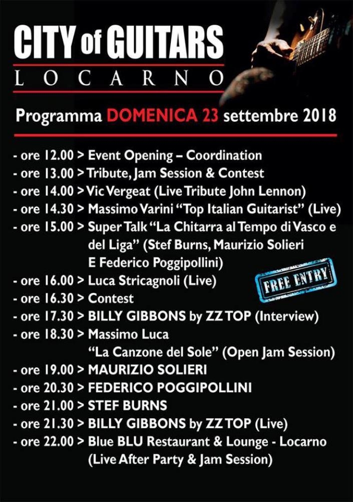 City of Guitars, Locarno si riempie di musica