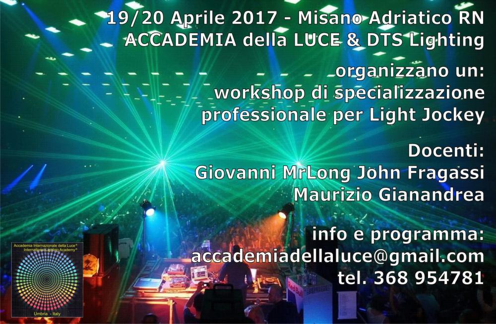 DTS corso di specializzazione per Light Jockey