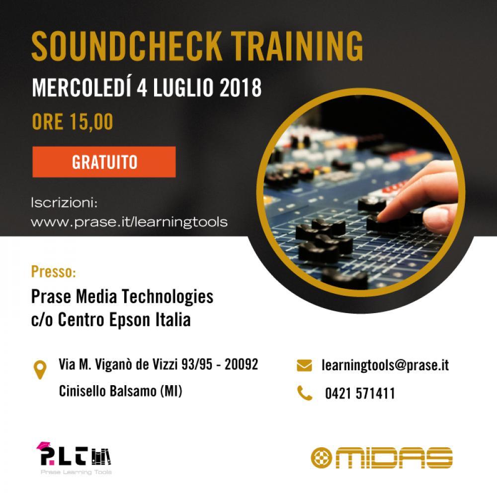 Soundcheck Training: una nuova data milanese