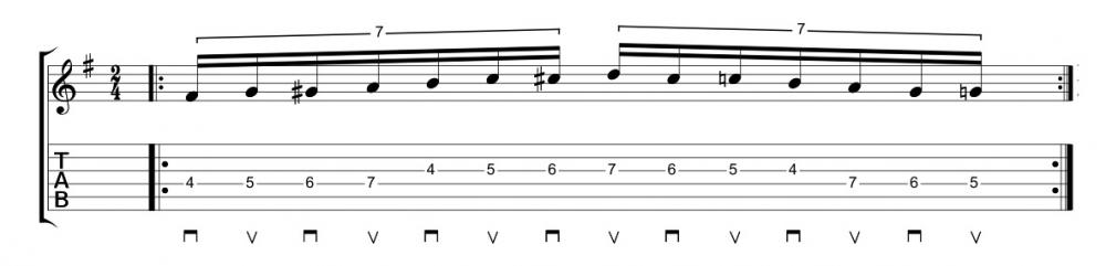 Pennata alterata: cromatismi e gruppi di sette note