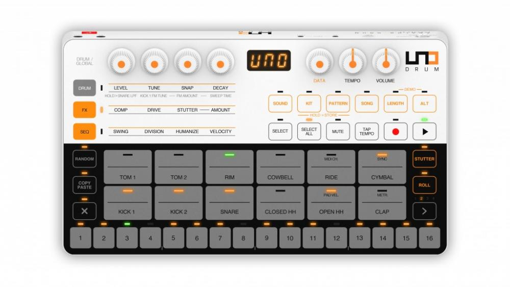 IK Multimedia UNO Drum Analog/PCM drum machine