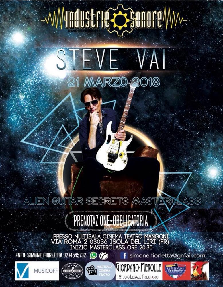 Una sola possibilità  per andare a lezione con Steve Vai