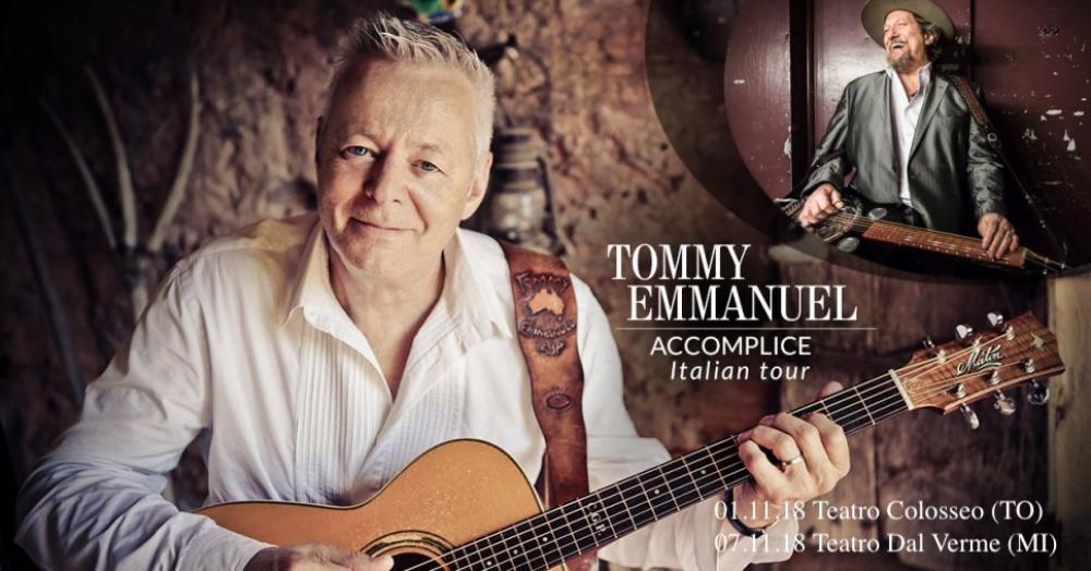 Aiutaci a intervistare Tommy Emmanuel: noi ti regaliamo i biglietti per il suo prossimo tour