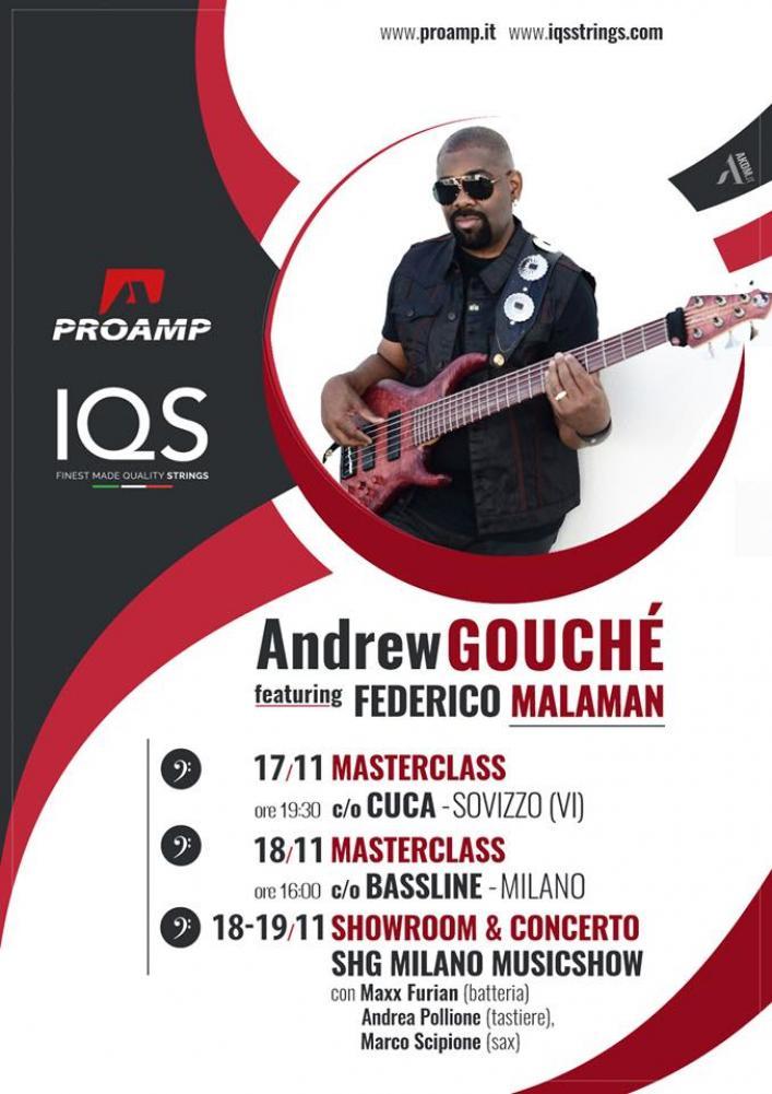 Andrew Gouché in italia con Malaman e IQS-Proamp