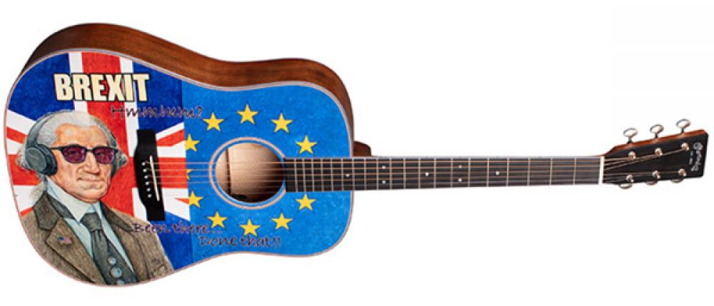 Brexit Guitar: dreadnought satirica da Martin