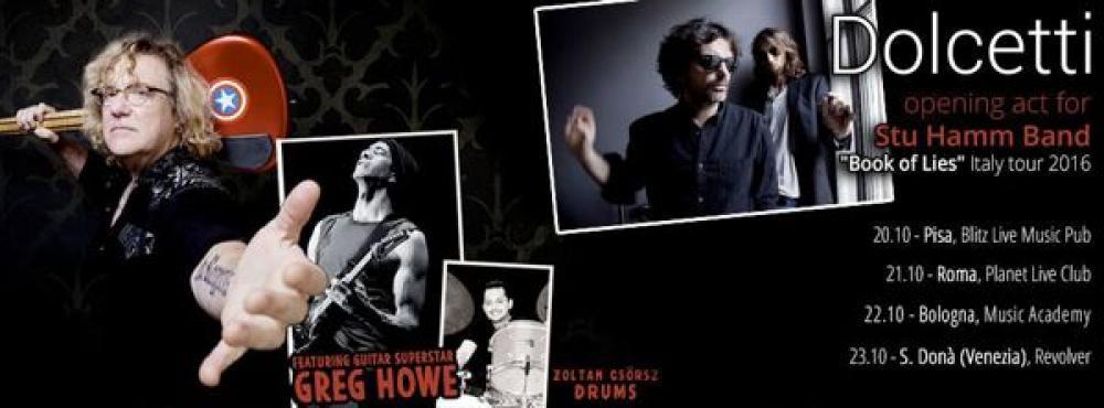 Dolcetti: tour con Greg Howe e Stu Hamm per lanciare il disco
