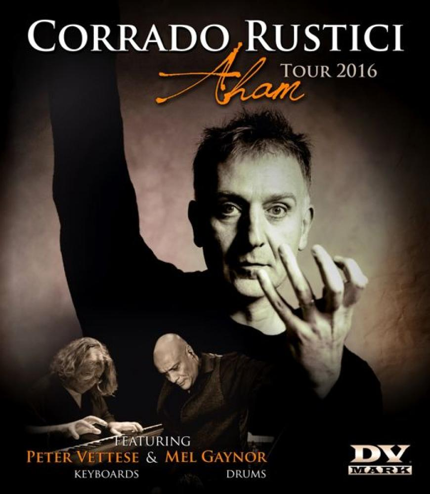 Corrado Rustici dal vivo con Peter Vettese e Mel Gaynor dei Simple Minds