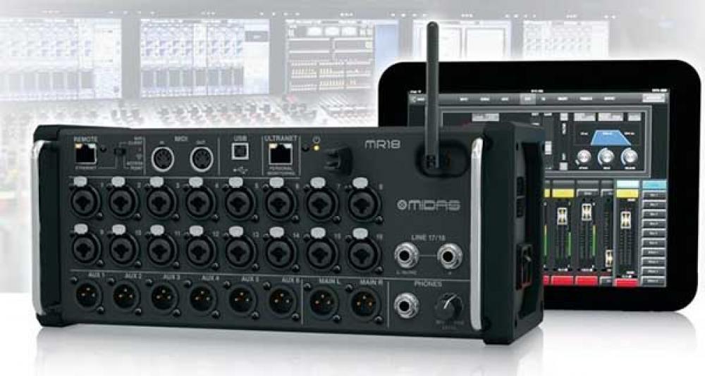 Tutte le funzioni dello smart mixer Midas MR18