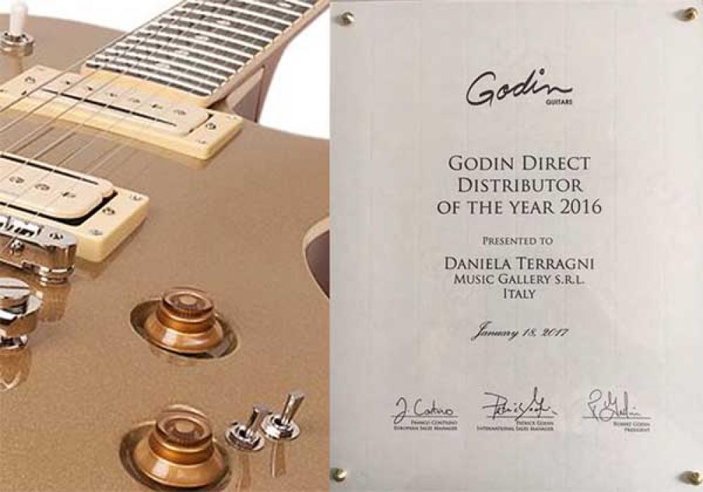 Godin premia Music Gallery: è italiana la miglior distribuzione diretta