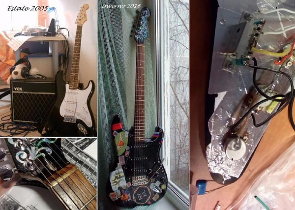 Squier Strat extreme makeover