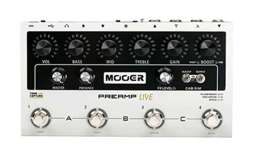 Mooer Preamp Live: simulazioni studiate per il palco