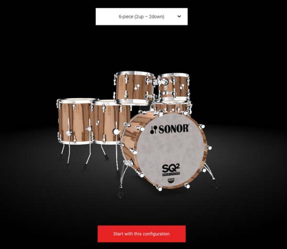 Da Sonor il configuratore 3D di batterie