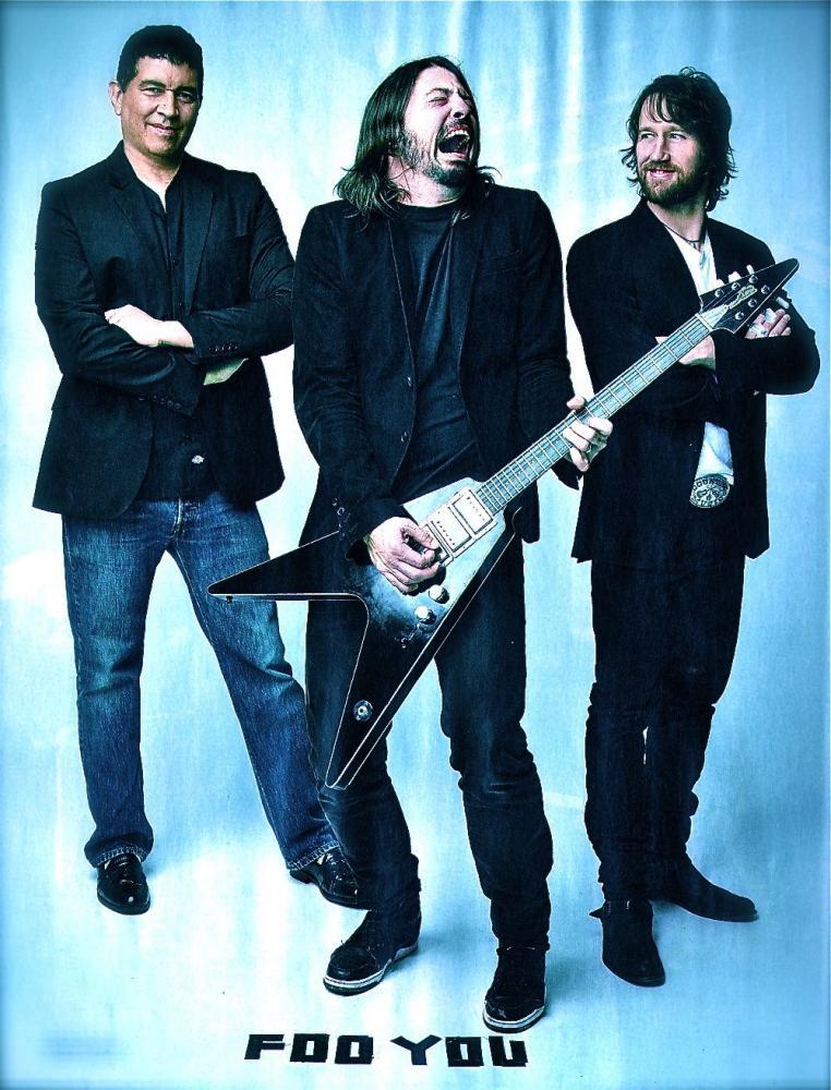 Muri di chitarre alla Foo Fighters