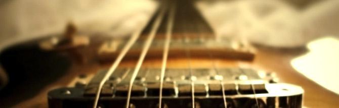 La scala di una chitarra