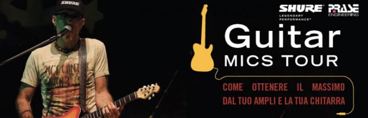 Shure Guitar Mics Tour: lezioni di microfonazione on the road