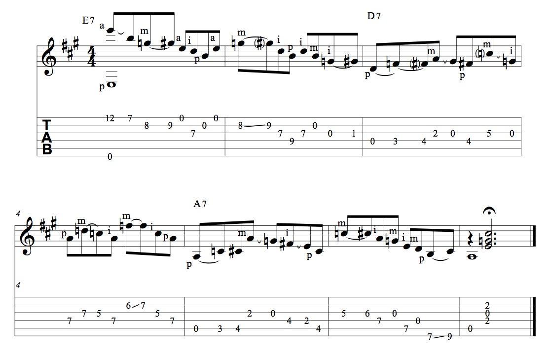 Tra fingerstyle acustico e slow blues elettrico