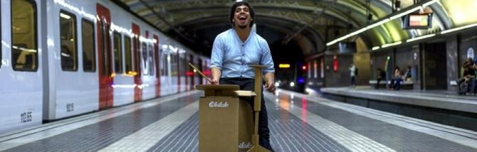 Obilab cardboard drumset: la batteria di cartone