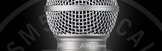 Shure SM58: 50 anni e non sentirli