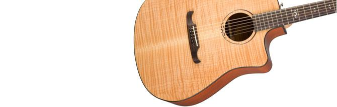 Fender T Bucket 400CE dreadnought fiammante