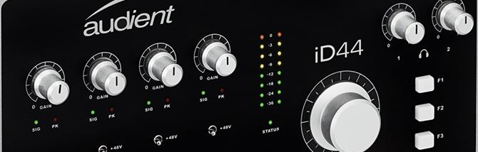 Nuova interfaccia audio ID44 da Audient