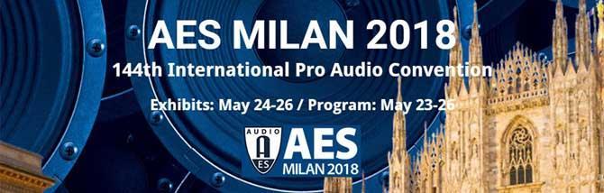 AES 2018: il Pro Audio espone a Milano