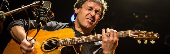Peppino D'Agostino: respirazione e meditazione prima del concerto