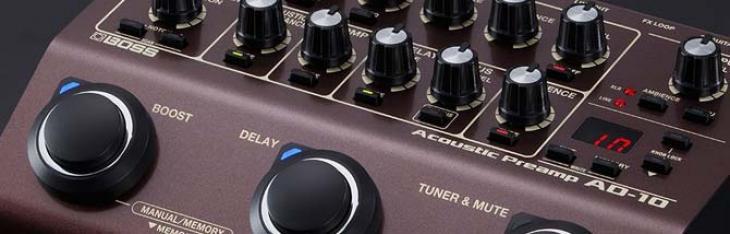 Il preamp per acustica diventa programmabile con il Boss AD10