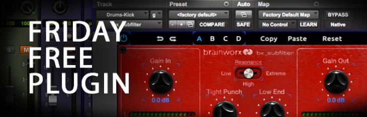 Friday Free Plugin - Brainworx bx_subfilter