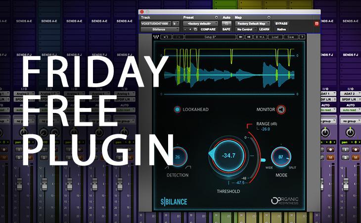 Friday Free Plugin - Waves Audio Sibilance