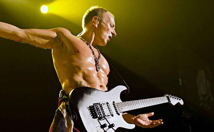 Le chitarre di Phil Collen in tour