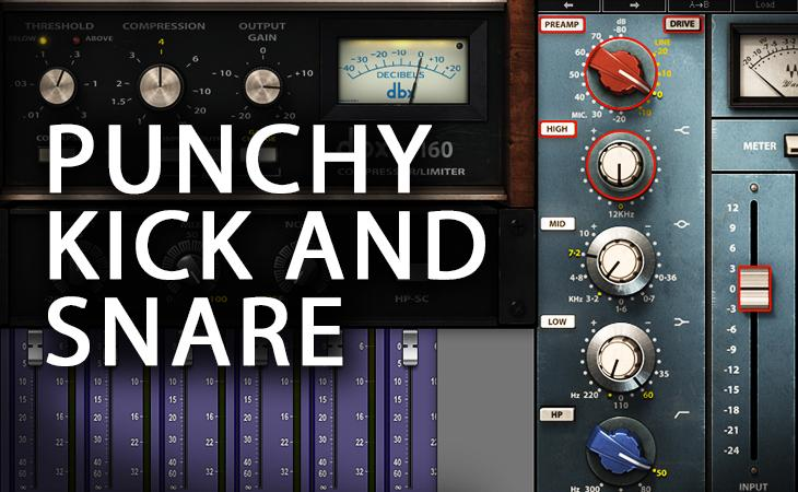 Quick Tutorial - Punchy Kick and Snare