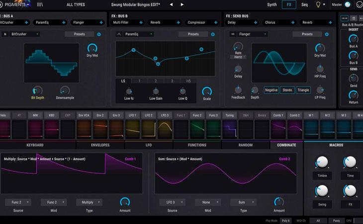 Pigments: il primo synth software di Arturia