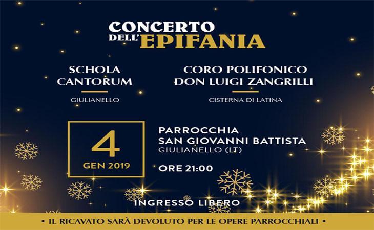 Giulianello, il 4 Gennaio Concerto dell'Epifania