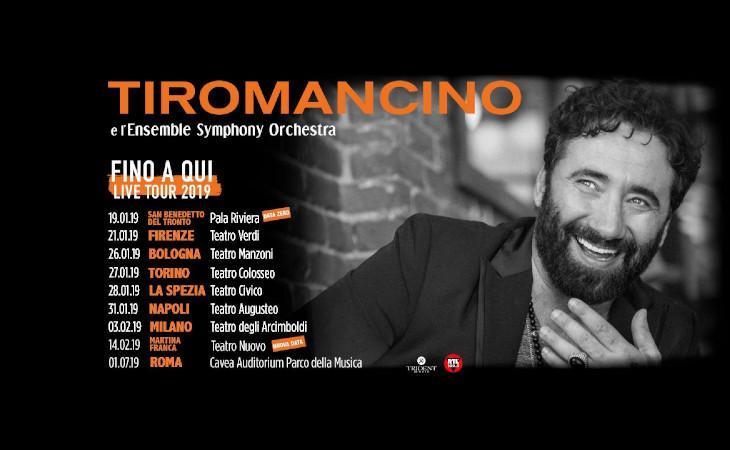 """Tiromancino, dal 21 Gennaio nei teatri con """"Fino a qui – in tour""""."""