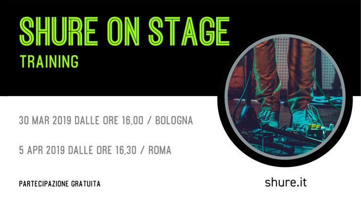 Shure on stage training