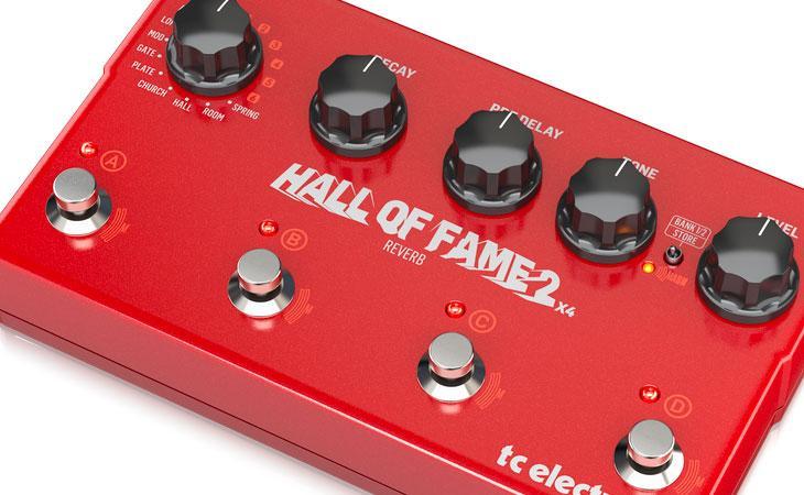 Hall Of Fame 2 X4 quadruplica il riverbero TC Electronic